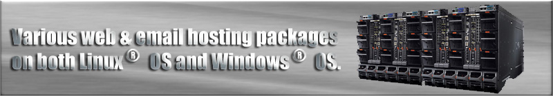 Various web & email hosting packages on both LinuxR OS and WindowsR OS.